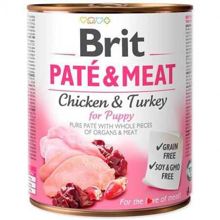 Brit Paté Pollo Y Pavo para Cachorro