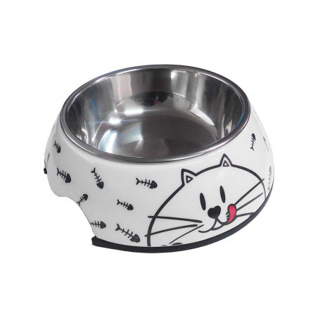 Comedero Melamina y Metal para Gatos