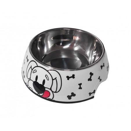 Comedero Metal y Melamina Para Perros