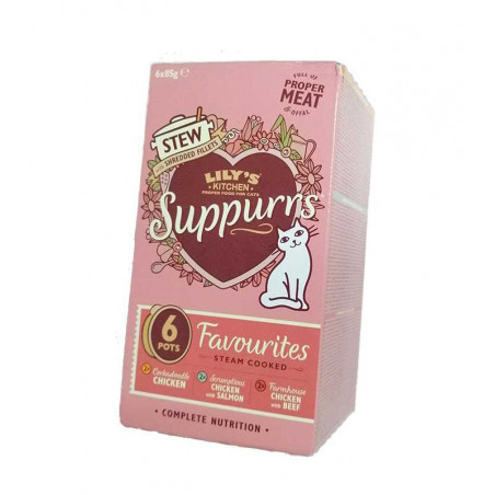 Multipack Lily Kitchen Suppurrs Pollo, Salmón y Ternera 6x85g