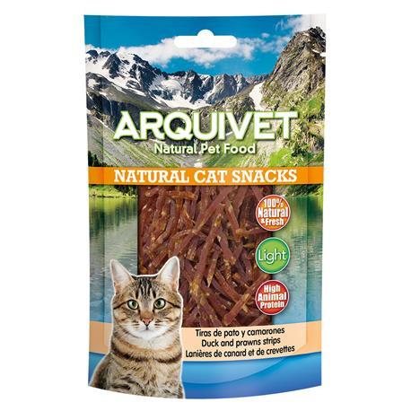Snack Arquivet Natural Cat Tiras de Pato y Camarones