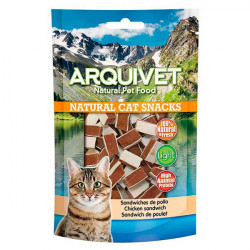 Snack Arquivet Natural Cat Sandwiches de Pollo