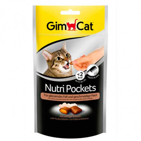 GimCat Nutri Pockets Con Pollo y Biotina Sensitive Skin