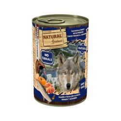 Lata natural greatness de salmón y pavo con calabaza 400grs