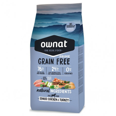 Ownat Prime Grain Free Senior Pollo y Pavo