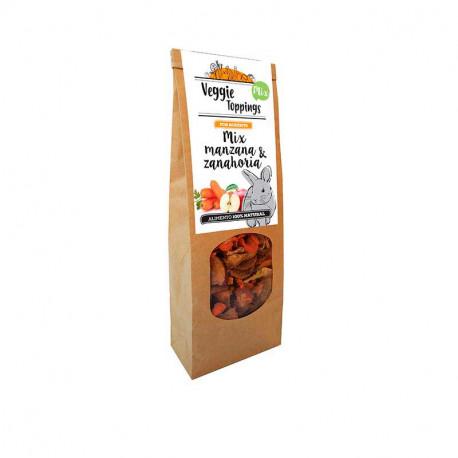 Veggie Toppings Mix Manzana y Zanahoria para roedores