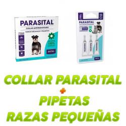 Pack Collar Parasital + Pipetas Perros Pequeños