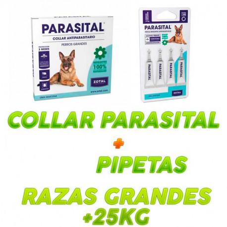 Pack Collar Parasital + Pipetas Perros Grandes