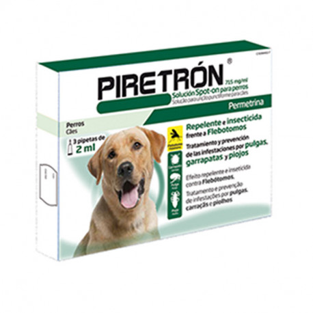 Pipetas Piretrón Spot-on 2ml +15kg