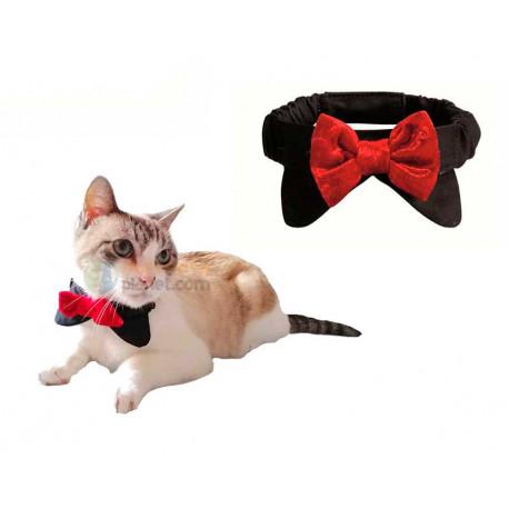 Pajarita Elegante de Fiesta para Gato
