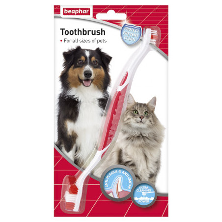 Beaphar Cepillo Dental Doble