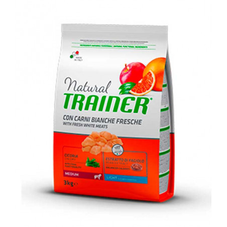 Natural Trainer Carne Blanca Adult Light Raza Mediana