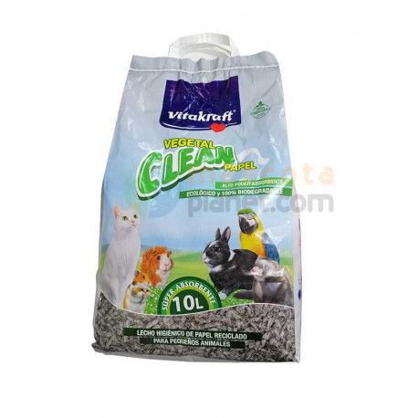 Lecho Vitakraft Papel Vegetal Clean 10L
