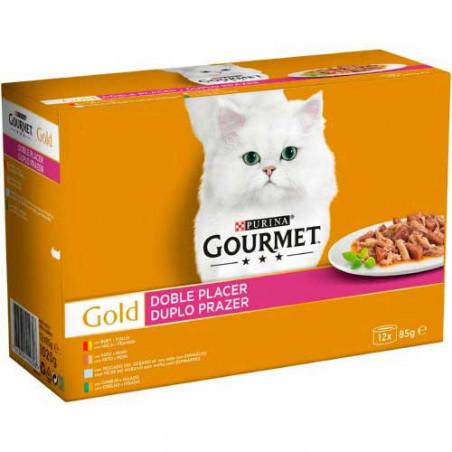 Friskies Gourmet Gold Doble Placer Surtidos 4 sabores 12 Latas 85g