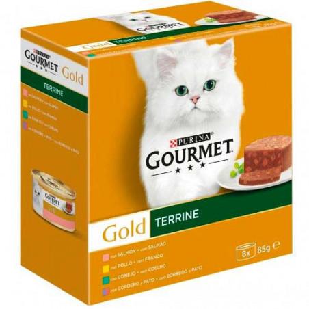 Friskies Gourmet Gold Terrine Surtidos 4 sabores 8 Latas 85g