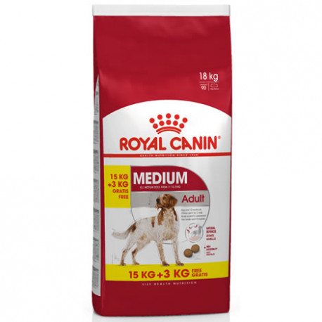 Royal Canin Medium Adulto 15Kg + 3kg gratis