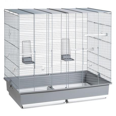 Jaula Para Cría De Pájaros de 58cm Plata