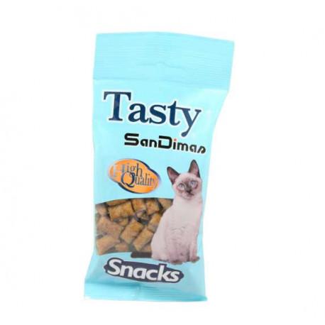 Snack Rellenitos Tasty Crunch Pollo y Malta para Gatos