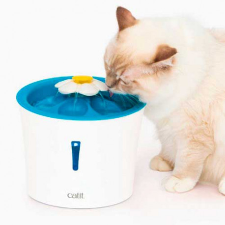 Fuente Catit Senses Flower Fountain LED para Gatos