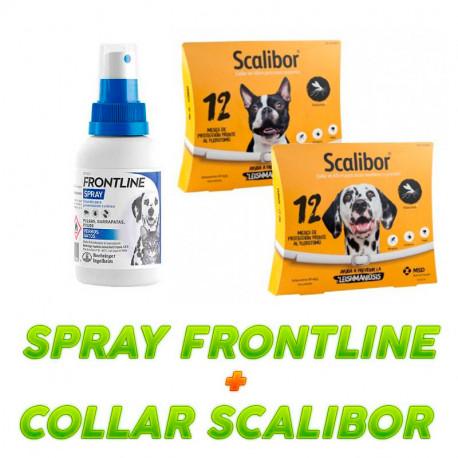 Frontline Spray Antiparasitarios + Collar Scalibor
