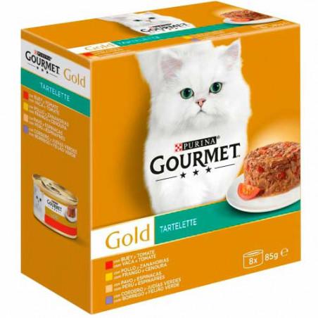 Friskies Gourmet Gold Tartelette Surtidos 4 sabores 8 Latas 85g