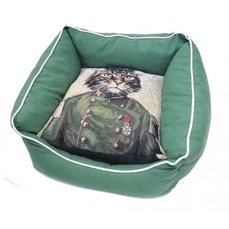 Cuna Mullida Vintage Gato Militar
