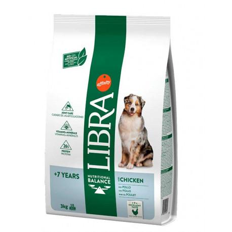 Libra Senior Con Pollo Pienso Para Perros