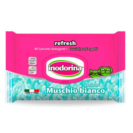 Toallitas Inodorina Refresh Perfumada con Musgo Blanco