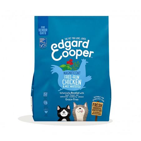 Edgard & Cooper Pollo de Corral y Pescado Blanco Senior Grain Free para Gatos