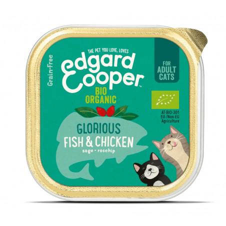 Edgard & Cooper Pescado y Pollo Ecológico Adult Grain Free 85gr