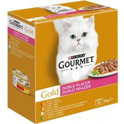 Friskies Gourmet Gold Doble Placer Surtidos 4 sabores 8 Latas 85g