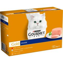 Friskies Gourmet Gold Mousse Surtidos Pack 12 Latas de 85g