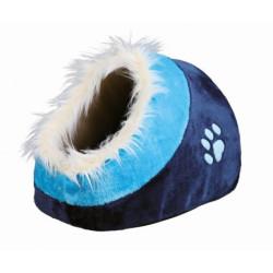 Cuna Cueva Minou Azul para Perros y Gatos