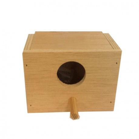 Nido de madera para pájaros exóticos