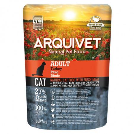 Pienso Arquivet Adult natural para gatos con pavo