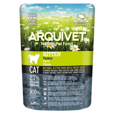 Pienso Arquivet Kitten natural para gatitos con Pavo