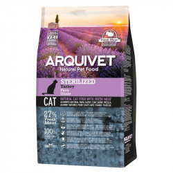 Pienso Arquivet Sterilized natural para gatos con Pavo