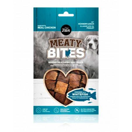 Snack Zeus Meaty Bites Grain Free Pollo con Pescado Blanco