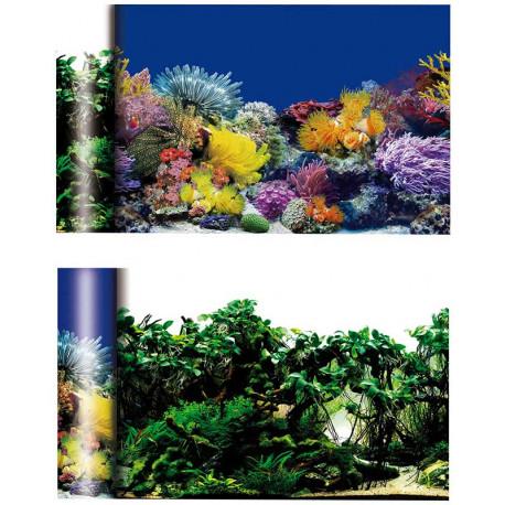 Fondo Acuario Doble Temática Corales / Plantas