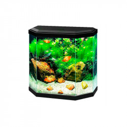 Kit Acuario Rena Aqua30 LED Octogonal 25 Litros Blanco