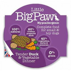 Tarrina Little Big Paw Pato para Perros 85g
