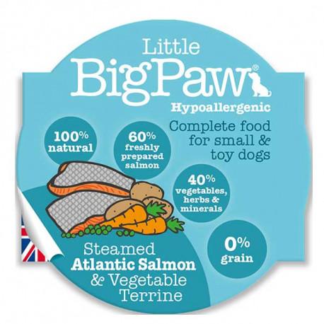 Tarrina Little Big Paw Salmón Atlántico para Perros 150g
