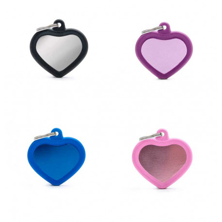Placa Identificativa Corazón con Goma