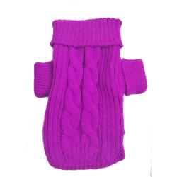 Jersey Terry lana suave Morado trenzado para perro