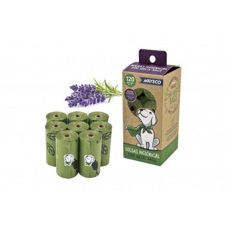 Bolsas Biodegradables Lavanda 8 Rollos