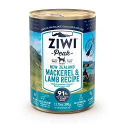 Ziwipeak latas de caballa con cordero para perros 390grs