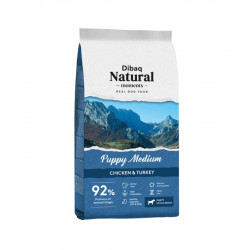 Dibaq Natural Moments Puppy Medium Pollo y Pavo