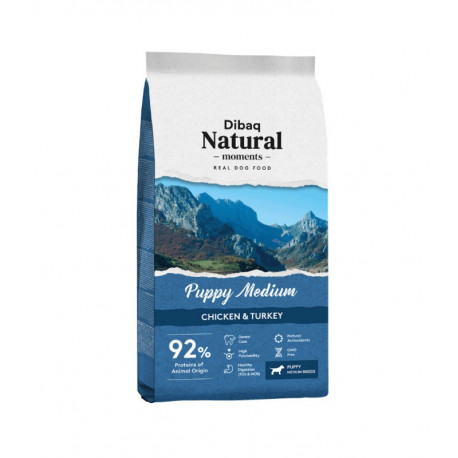 Dibaq Natural Moments Puppy Medium Pollo y Pavo