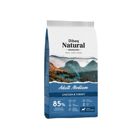 Dibaq Natural Moments Adult Medium Pollo y Pavo