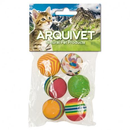 Pack 6 Pelotas Multicolor para Gatos